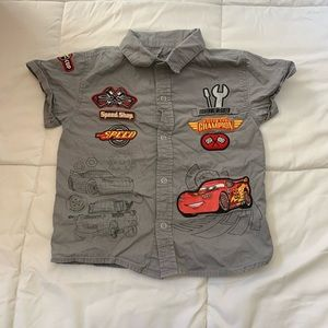 Cars Lightning McQueen button down